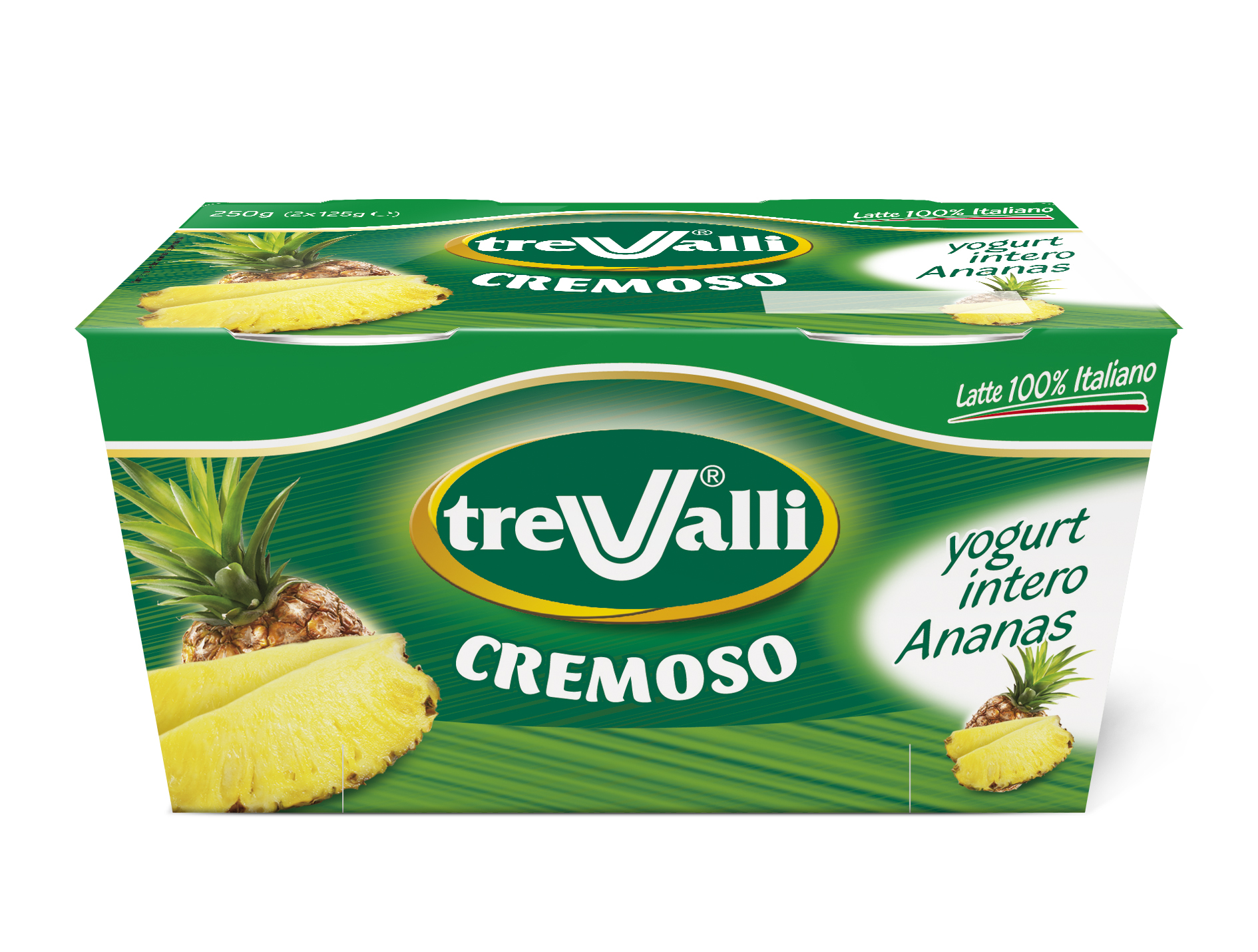 Yogurt Intero Cremoso all'Ananas Trevalli